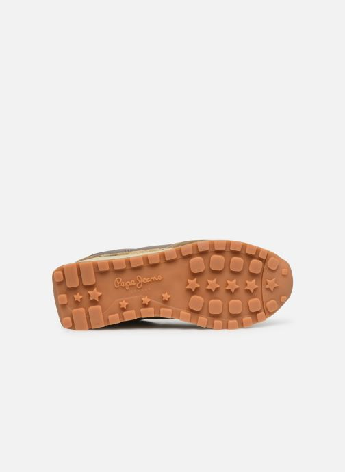 Baskets Pepe jeans Dean Bass C Or et bronze vue haut
