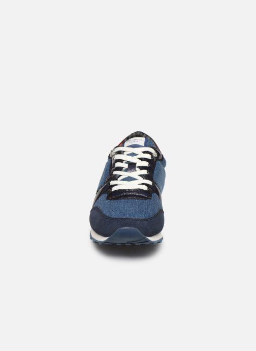 Baskets Pepe jeans Verona W Fray C Bleu vue portées chaussures