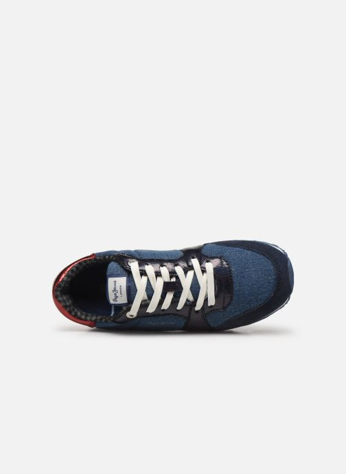 Trainers Pepe jeans Verona W Fray C Blue view from the left