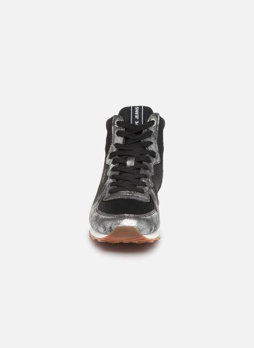Sneaker Pepe jeans Verona W Twin Bootie C grau schuhe getragen