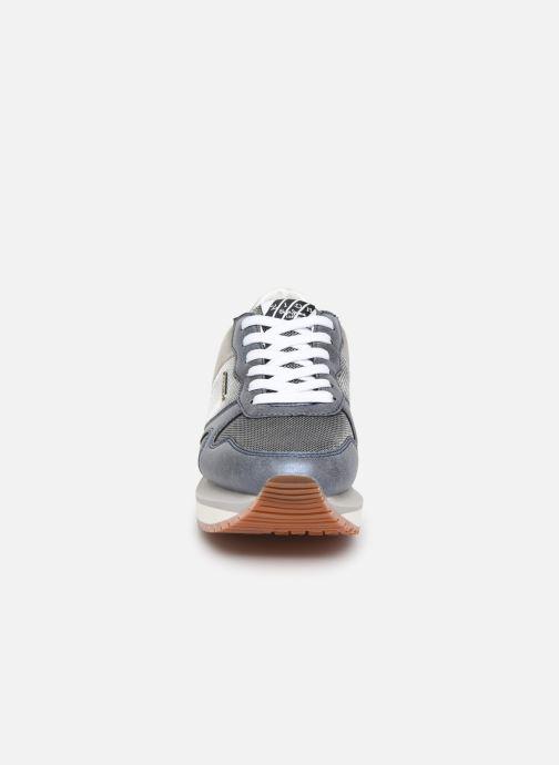 Baskets Pepe jeans Zion Mesh C Bleu vue portées chaussures