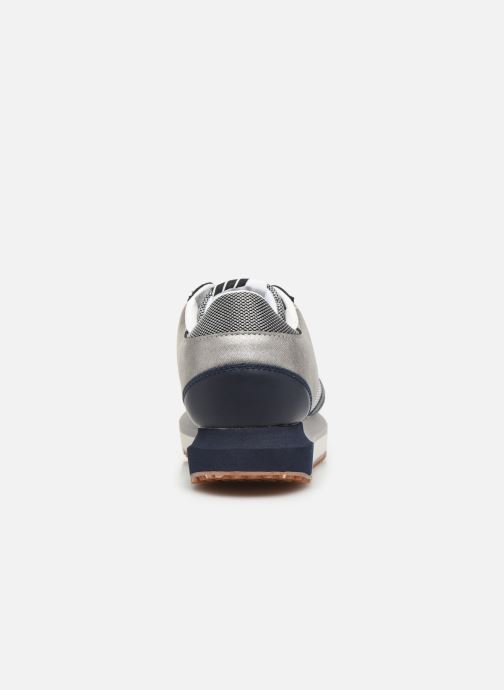 Baskets Pepe jeans Zion Mesh C Bleu vue droite