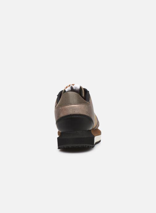 Baskets Pepe jeans Zion Mesh C Or et bronze vue droite