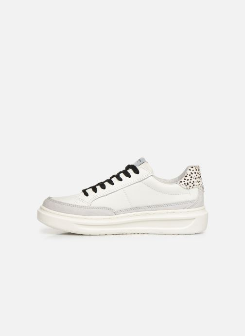 Baskets Pepe jeans Abbey Bass C Blanc vue face