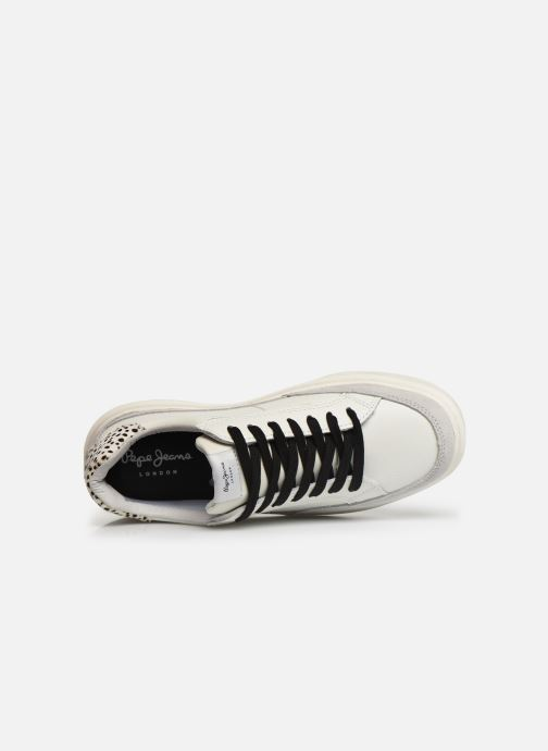 Trainers Pepe jeans Abbey Bass C White view from the left