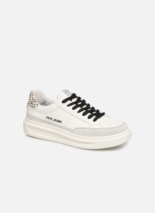 Baskets Pepe jeans Abbey Bass C Blanc vue détail/paire