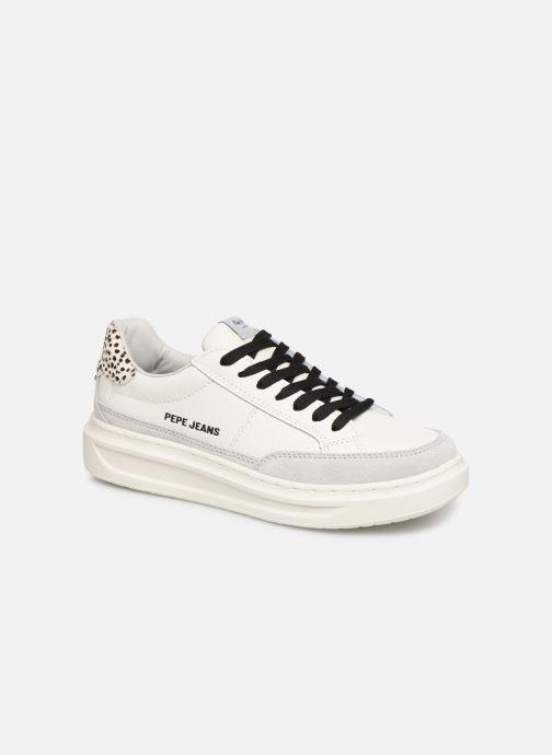 Baskets Pepe jeans Abbey Bass C Blanc vue détail/paire