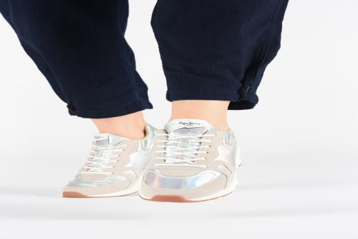 Sneakers Pepe jeans Harlow Up Reflect C Argento immagine dal basso