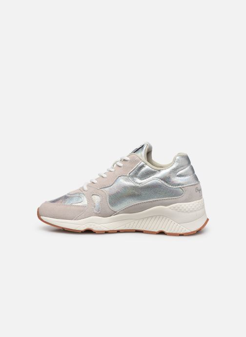Sneakers Pepe jeans Harlow Up Reflect C Argento immagine frontale