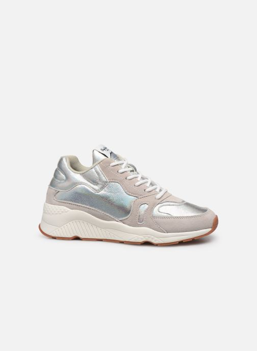 Sneakers Pepe jeans Harlow Up Reflect C Argento immagine posteriore