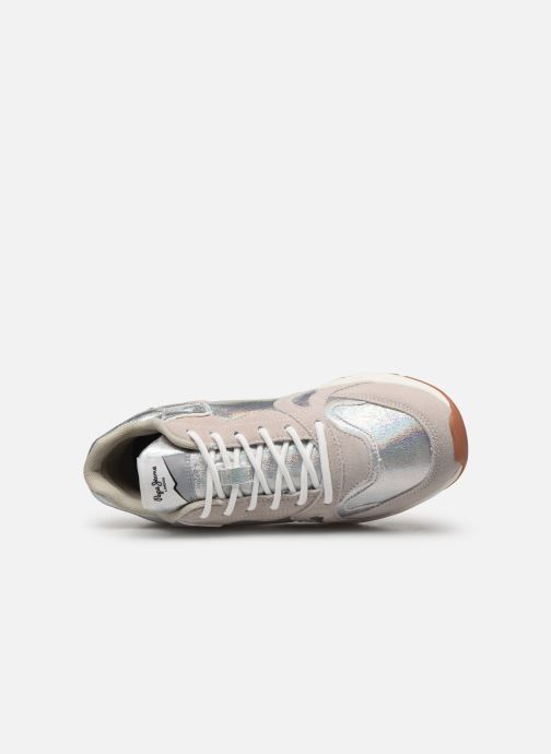 Sneaker Pepe jeans Harlow Up Reflect C silber ansicht von links
