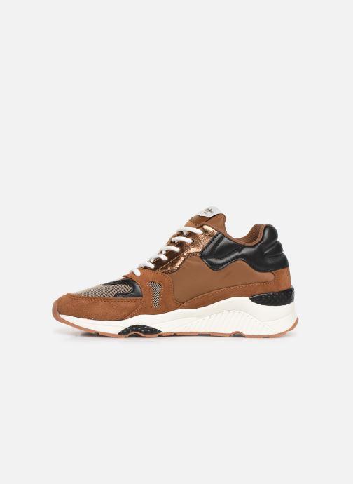 Sneakers Pepe jeans Harlow Up Run C Bruin voorkant