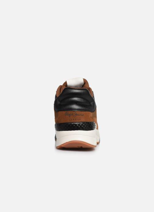 Sneakers Pepe jeans Harlow Up Run C Bruin rechts