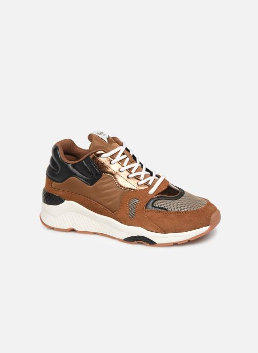 Trainers Pepe jeans Harlow Up Run C Brown detailed view/ Pair view