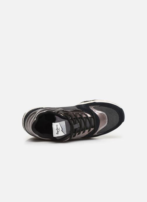 Sneakers Pepe jeans Harlow Up Run C Zwart links