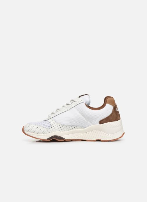 Trainers Pepe jeans Harlow New C White front view