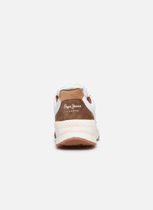 Trainers Pepe jeans Harlow New C White view from the right