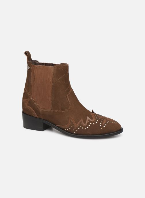 Ankle boots Pepe jeans Chiswick Easy C Brown detailed view/ Pair view