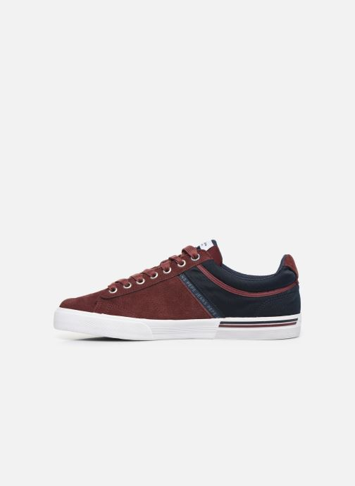 Trainers Pepe jeans North Zero C Burgundy front view