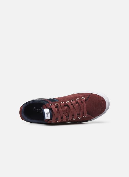 Trainers Pepe jeans North Zero C Burgundy view from the left