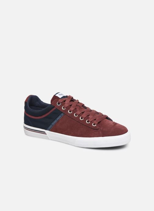 Trainers Pepe jeans North Zero C Burgundy detailed view/ Pair view