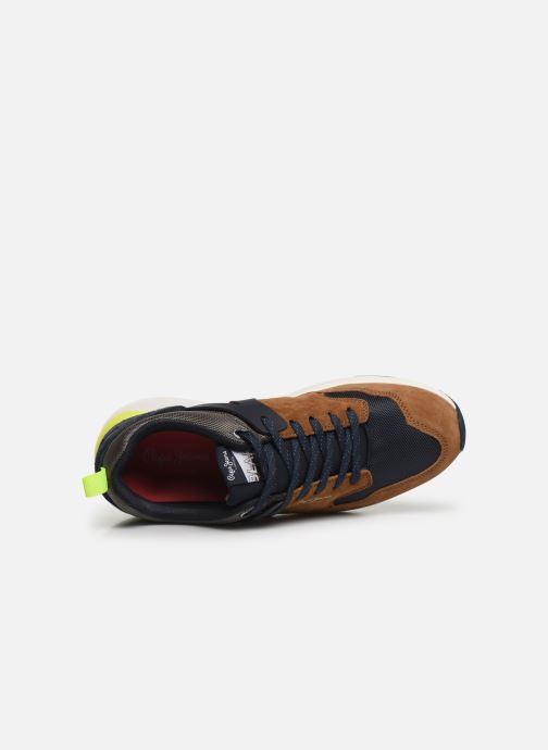 Sneaker Pepe jeans Blake 01 C braun ansicht von links