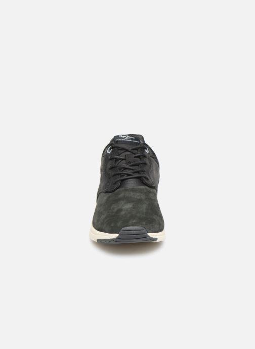 Baskets Pepe jeans Jayker Lth Mix C Gris vue portées chaussures