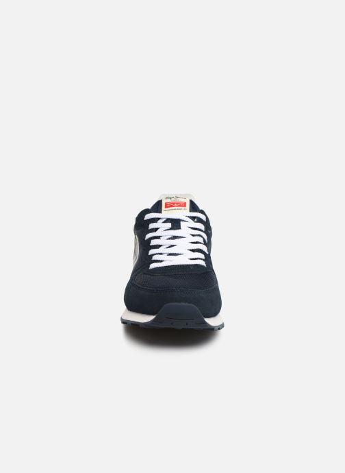 Baskets Pepe jeans Klein Archive C Bleu vue portées chaussures