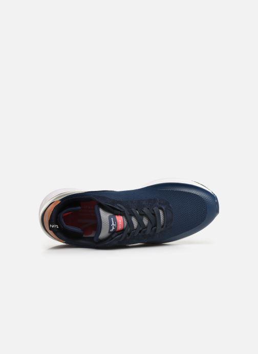 Sneaker Pepe jeans Nº22 M C blau ansicht von links