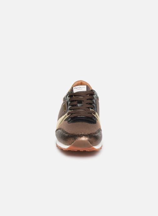 Baskets Pepe jeans Verona W One Or et bronze vue portées chaussures