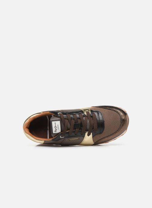 Baskets Pepe jeans Verona W One Or et bronze vue gauche