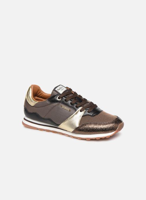 Baskets Pepe jeans Verona W One Or et bronze vue détail/paire