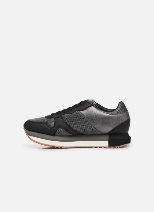 Trainers Pepe jeans Zion Mesh Black front view