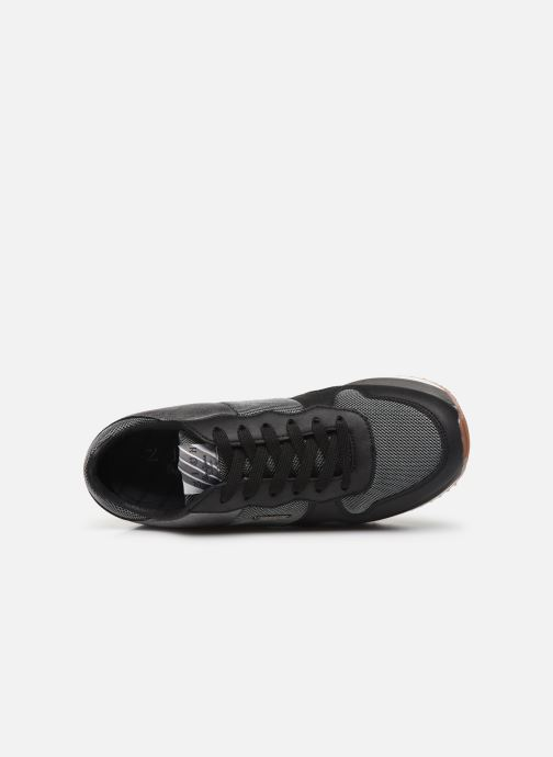Trainers Pepe jeans Zion Mesh Black view from the left
