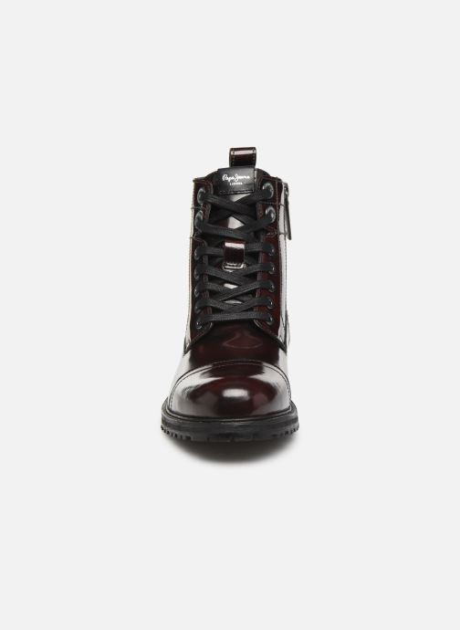 Bottines et boots Pepe jeans Melting Bass Bordeaux vue portées chaussures