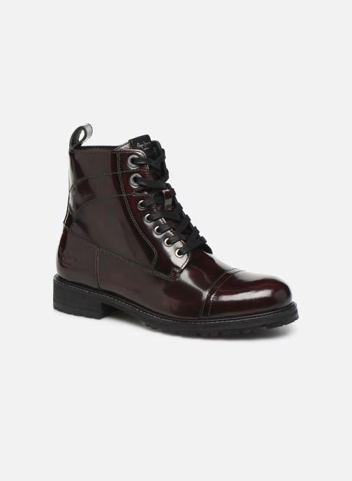 Bottines et boots Pepe jeans Melting Bass Bordeaux vue détail/paire