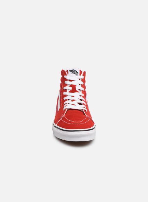 Deportivas Vans SK8-Hi M Rojo vista del modelo