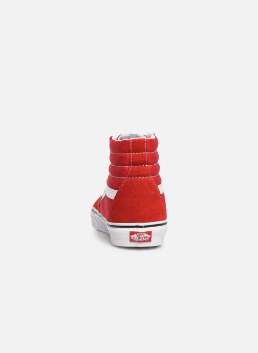 Baskets Vans SK8-Hi M Rouge vue droite