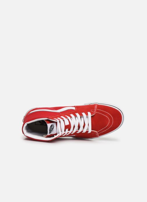 Trainers Vans SK8-Hi M Red view from the left