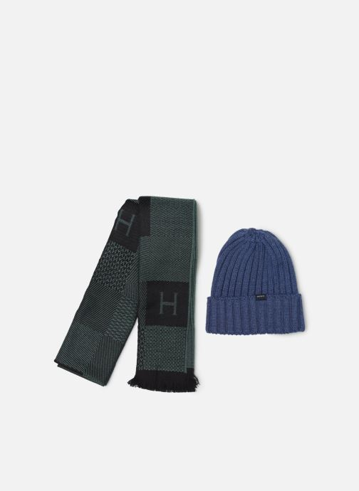 Bonnets Hackett London SCARF&BEANIE SET Vert vue détail/paire