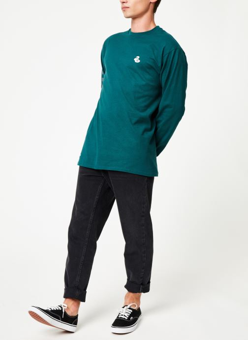 Vêtements Vans Harry Potter Slytherin LS Vert vue bas / vue portée sac