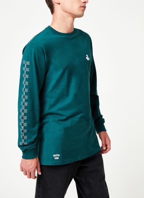 Vêtements Vans Harry Potter Slytherin LS Vert vue droite