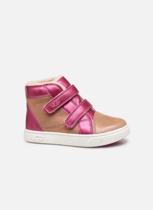 Sneakers UGG Rennon II Shimmer Brun se bagfra