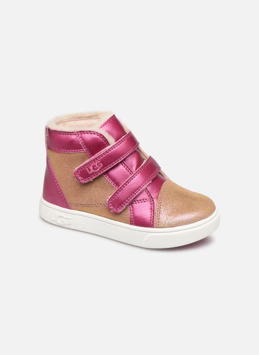 Sneakers UGG Rennon II Shimmer Brun detaljeret billede af skoene