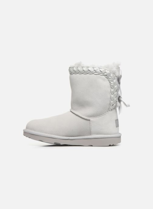 Bottes UGG Classic Short II Braided K Gris vue face