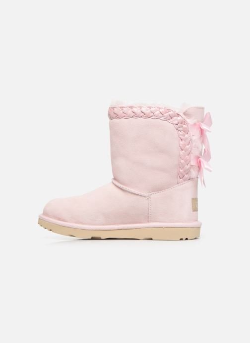 Bottes UGG Classic Short II Braided K Rose vue face