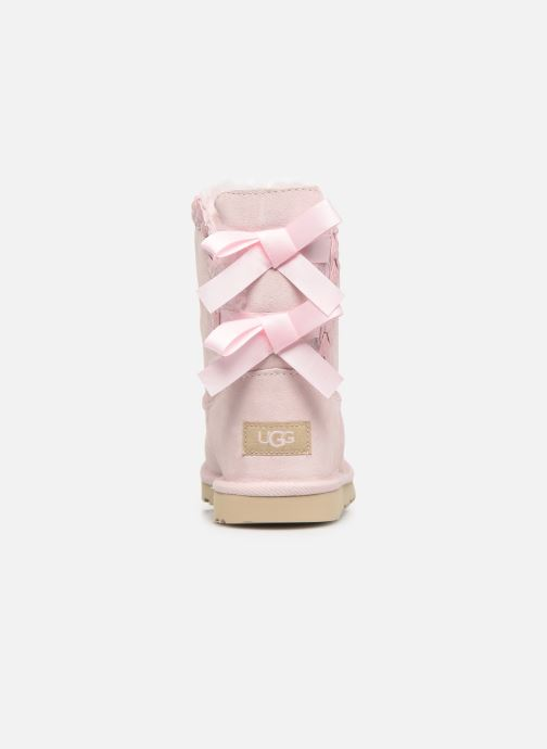 Bottes UGG Classic Short II Braided K Rose vue droite