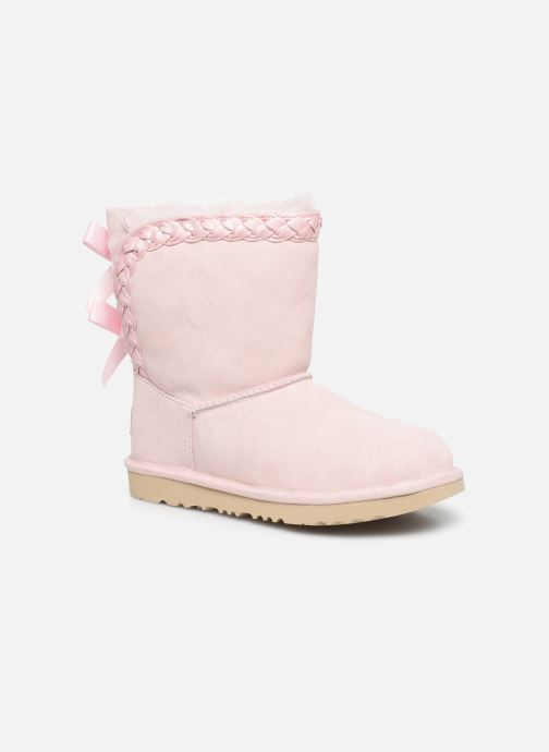 Bottes UGG Classic Short II Braided K Rose vue détail/paire