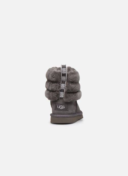 Bottes UGG Fluff Mini Quilted K Gris vue droite