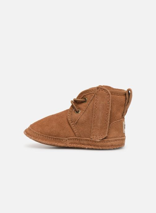 Chaussons UGG Baby Neumel & Ugg Beanie Marron vue face